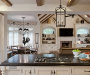 Kitchen Provence Lighting 2 180x150 - Provence Style Kitchens – 100 ideas for interior