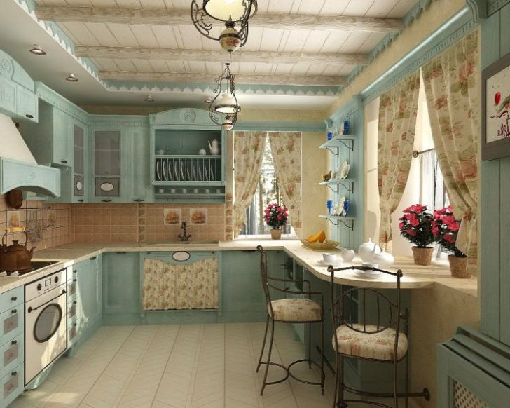 Kitchen provence 728x582 - Provence Style Kitchens – 100 ideas for interior