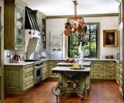 Olive kitchen in Provence style 2 180x150 - Provence Style Kitchens – 100 ideas for interior