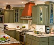 Olive kitchen in Provence style 3 180x150 - Provence Style Kitchens – 100 ideas for interior