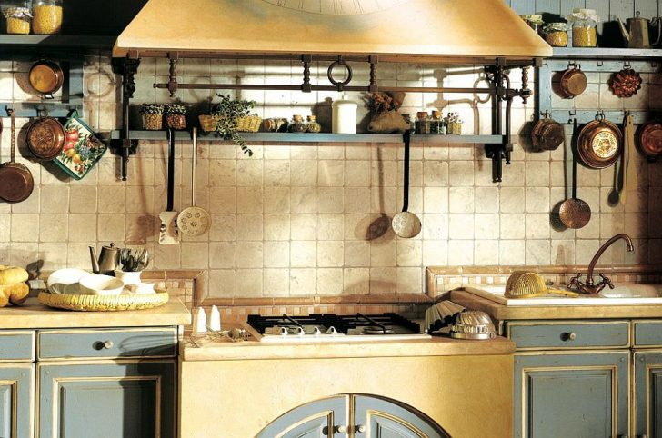 Open shelves in the kitchen in the style of Provence 728x482 - Provence Style Kitchens – 100 ideas for interior