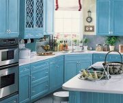 Provence Style Kitchens Light Blue 2 180x150 - Provence Style Kitchens – 100 ideas for interior