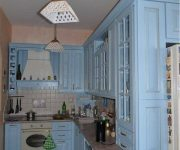 Provence Style Kitchens Light Blue color 180x150 - Provence Style Kitchens – 100 ideas for interior