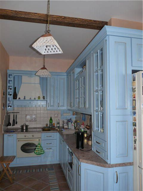 Provence Style Kitchens – Light Blue color