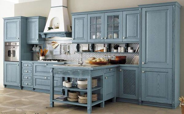 Provence Style Kitchens Light Blue - Provence Style Kitchens – 100 ideas for interior