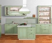 Provence Style Kitchens Pistachio color 180x150 - Provence Style Kitchens – 100 ideas for interior