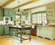Provence Style Kitchens Pistachio color 2 180x150 - Provence Style Kitchens – 100 ideas for interior