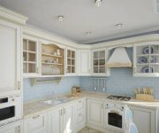 Provence Style Kitchens White and Light Blue color 180x150 - Provence Style Kitchens – 100 ideas for interior