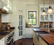 Provence Style Kitchens Wooden countertops 180x150 - Provence Style Kitchens – 100 ideas for interior