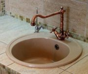Vintage bronze faucet for Provence Style Kitchen 180x150 - Provence Style Kitchens – 100 ideas for interior