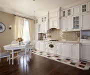 White kitchen in the style of a Provence 180x150 - Provence Style Kitchens – 100 ideas for interior