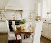 White kitchen in the style of a Provence photo 180x150 - Provence Style Kitchens – 100 ideas for interior