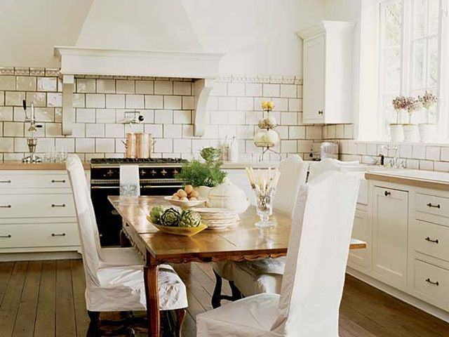 White kitchen in the style of a Provence photo